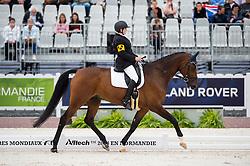 Katja Karjalainen, (FIN), Woikoski Double U - Individual Test Grade Ib Para Dressage - Alltech FEI World Equestrian Games™ 2014 - Normandy, France.<br /> © Hippo Foto Team - Jon Stroud <br /> 25/06/14