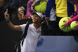 November 13, 2017 - London, United Kingdom - Bob Bryan of the United States takes a picture with fans after their victory in the Doubles match against Jamie Murray of Great Britain and Bruno Soares of Brazil during day two of the Nitto ATP World Tour Finals at O2 Arena, London on November 13, 2017. (Credit Image: © Alberto Pezzali/NurPhoto via ZUMA Press)