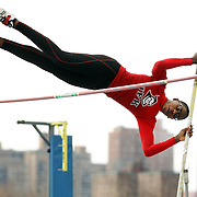 High school competitors in action during the Pole Vault competition at the 2013 NYC Mayor's Cup Outdoor Track and Field Championships at Icahn Stadium, Randall's Island, New York USA.13th April 2013 Photo Tim Clayton