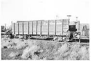 3/4 view of D&RGW high-side gondola #1504 without end boards.<br /> D&RGW    <br /> See RD060-023 for an end detail of this car.