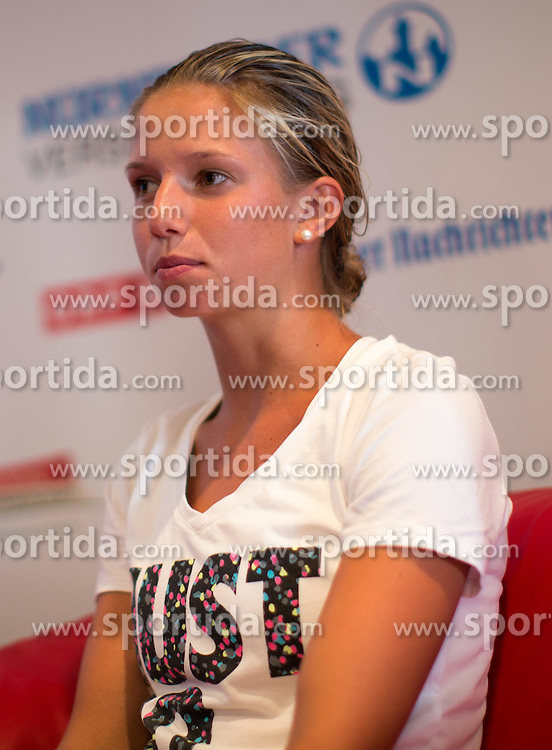 21.07.2015, Hotel Europaeischer Hof, Bad Gastein, AUT, WTA Tour, Nuernberger Gastein Ladies 2015, Tag 1, Pressekonferenz, im Bild Barbara Haas (AUT) // Barbara Haas of Austria during a press conference of the Nuernberger Gastein ladies tennis tournament of the WTA Tour at the Hotel Europaeischer Hof in Bad Gastein, Austria on 2015/07/21. EXPA Pictures © 2015, PhotoCredit: EXPA/ Johann Groder