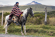 Chagra or Andean Cowboy<br /> Cotopaxi Province<br /> Andes<br /> ECUADOR, South America