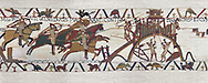 Bayeux Tapestry Scene 19 - Normans attack Dinan, BYX19