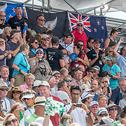 NZ Supporters cheer on Matthew Dunham New Zealand Mens Lightweight Single Scull silver medalist <br /> <br /> Finals races at the World Championships, Sarasota, Florida, USA Friday 29 September 2017. Copyright photo © Steve McArthur / Rowing NZ