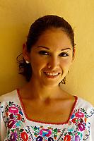 A beautiful young Mexican woman, Playa Mazatlan Hotel, Mazatlan, Sinaloa, Mexico