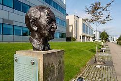 Bust of Scottish Poet Sorley MacLean  at Edinburgh Park a modern business park at South Gyle in Edinburgh, Scotland, United Kingdom.