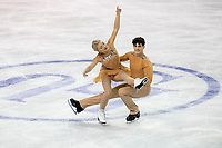 KELOWNA, BC - OCTOBER 26: Canadian figure skaters Piper Gilles and Paul Poirier compete in ice dance free dance of Skate Canada International held at Prospera Place on October 26, 2019 in Kelowna, Canada. (Photo by Marissa Baecker/Shoot the Breeze)