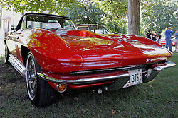 03 August 2013:  1966 Chevrolet Corvette Stingray Roadster<br /> <br /> Displayed at the McLean County Antique Automobile Association Car show at David Davis Mansion in Bloomington Illinois