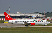 EC-LTG Alba Star Boeing 737-400 Photographed at Malpensa airport, Milan, Italy Photographed at Malpensa airport, Milan, Italy