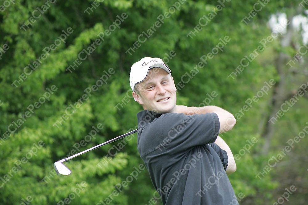 Richard McInerney - Castletroy GC pictured at the Scratch Cup in Ennis Golf Club on Sunday. Pic. Brian Arthur/ Press 22.