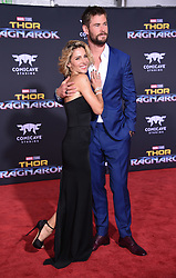 Marvel's 'Thor: Ragnarok' World Premiere held at the El Capitan Theatre. 10 Oct 2017 Pictured: Chris Hemsworth and Elsa Pataky. Photo credit: O'Connor/AFF-USA.com / MEGA TheMegaAgency.com +1 888 505 6342