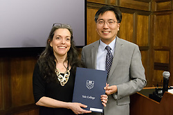 Yale College Faculty Prizes for Distinguished Undergraduate Teaching, Awards '18 and Reception, at the Sterling Library Memorabilia Room May 7, 2018