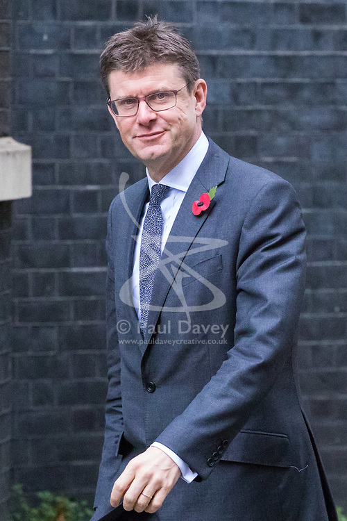 London, November 01 2017. Secretary of State for Business, Energy and Industrial Strategy Greg Clark is seen in Downing street following Prime Minister's Questions in the House of Commons. © Paul Davey