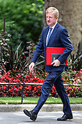 Secretary of State for Digital, Culture, Media and Sports Oliver Dowden, arrives in 10 Downing Street in London ahead of the weekly session of PMQs on Wednesday, July 1, 2020. (Photo/Vudi Xhymshiti)