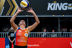 Sanne Keizer in action during the second day of the beach volleyball event King of the Court at Jaarbeursplein on September 10, 2020 in Utrecht.