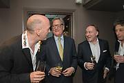 SIMON SEBAG-MONTEFIORE; DOMINIC LAWSON; ANDREW ROBERTS,; ADAM ZAMOYSKI,  The inaugural Cliveden Literary Festival announcement. Cadogan Gardens. London. 15 May 2017