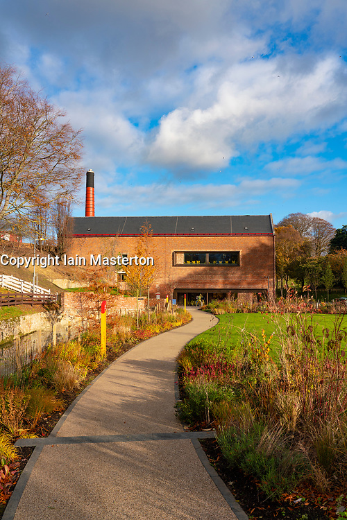 Exterior of new visitor centre at Johnnie Walker Glenkinchie Scotch Whisky distillery in East Lothian, Scotland, UK