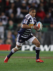 Juan De Jongh of the Stormers on the attack during the Super Rugby Semi-Final match between DHL Stormers and the Crusaders held at DHL Newlands Stadium in Cape Town, South Africa on 2 July 2011...Photo by Shaun Roy / Sportzpics.net