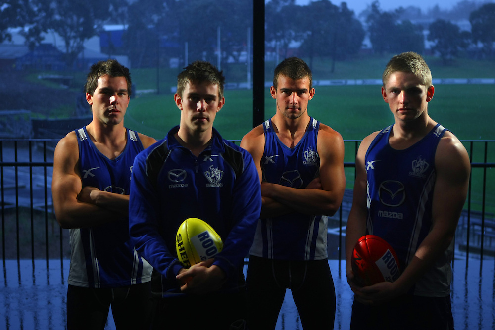North Melbourne s young midfielders, left to right, Levi Greenwood, Ryan Bastinac, Ben Cunnington, Jack Ziebell   - Pic By Craig Sillitoe 17/06/2010 SPECIAL 000 melbourne photographers, commercial photographers, industrial photographers, corporate photographer, architectural photographers, This photograph can be used for non commercial uses with attribution. Credit: Craig Sillitoe Photography / http://www.csillitoe.com<br /> <br /> It is protected under the Creative Commons Attribution-NonCommercial-ShareAlike 4.0 International License. To view a copy of this license, visit http://creativecommons.org/licenses/by-nc-sa/4.0/.