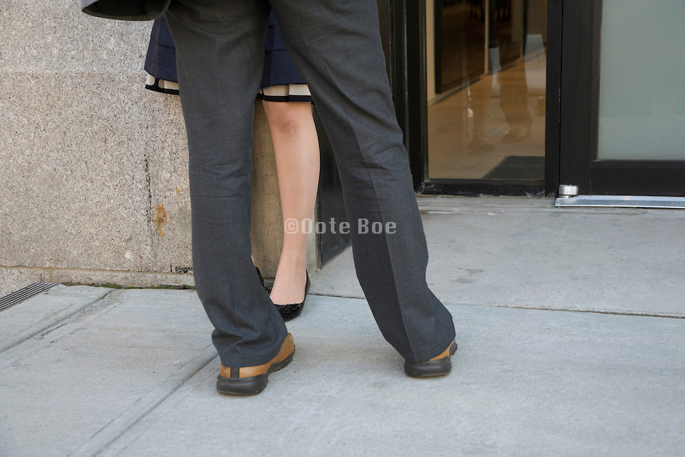 legs of man and woman together
