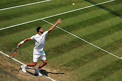 6 July 2017 -  Wimbledon Tennis (Day 4) - Grigor Dimitrov (BUL) serves during his 2nd round match - Photo: Marc Atkins / Offside.
