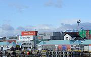 Containers on the docks of Ushuaia. Ushuaia, Argentina. 13Feb16