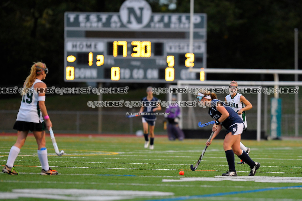 Callie Hiner after scoring two goals for Staples Wreckers Field Hockey.