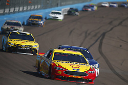 November 12, 2017 - Avondale, Arizona, United States of America - November 12, 2017 - Avondale, Arizona, USA: Joey Logano (22) battles for position during the Can-Am 500(k) at Phoenix Raceway in Avondale, Arizona. (Credit Image: © Justin R. Noe Asp Inc/ASP via ZUMA Wire)