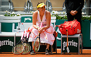 Anastasia Pavlyuchenkova of Russia after winning the fourth round at the Roland-Garros 2021, Grand Slam tennis tournament on June 6, 2021 at Roland-Garros stadium in Paris, France - Photo Rob Prange / Spain ProSportsImages / DPPI / ProSportsImages / DPPI