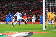 Alex Oxlade-Chamberlain of England goes close to scoring a fourth goal - England vs. Slovenia - UEFA Euro 2016 Qualifying - Wembley Stadium - London - 15/11/2014 Pic Philip Oldham/Sportimage