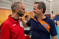 23-09-2016 NED: EK Kwalificatie Nederland - Oostenrijk, Koog aan de Zaan<br /> Nederland wint met 3-0 van Oostenrijk / Coach Gido Vermeulen