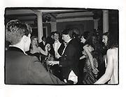 David Cameron at the Pitt Club Ball. ( wearing Bullingdon coat ) Cambridge. 1987