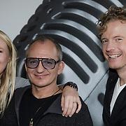 NLD/Naarden/20150202 - Nieuwe dj's voor Radio Veronica, Jeroen van Inkel met Nicky Verhagen en Martijn Zuurveen