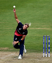 Katherine Brunt of England Women bowls - Mandatory by-line: Robbie Stephenson/JMP - 09/07/2017 - CRICKET - Bristol County Ground - Bristol, United Kingdom - England v Australia - ICC Women's World Cup match 19