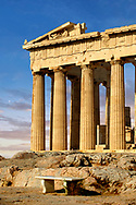 The Parthenon Temple ancient greek temple, the Acropolis of Athens in Greece.
