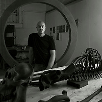 phen Melton, Artist, photographed in his studio in Ramsgate