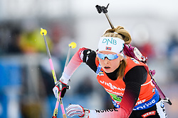 March 16, 2019 - –Stersund, Sweden - 190316 Ingrid Landmark Tandrevold of Norway competes in the Women's 4x6 km Relay during the IBU World Championships Biathlon on March 16, 2019 in Östersund..Photo: Petter Arvidson / BILDBYRÃ…N / kod PA / 92268 (Credit Image: © Petter Arvidson/Bildbyran via ZUMA Press)