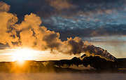 Thermal energy factory near Myvatn, Iceland