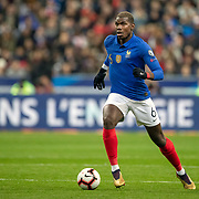 PARIS, FRANCE - March 25:  Paul Pogba #6 of France in action during the France V Iceland, 2020 European Championship Qualifying, Group Stage at  Stade de France on March 25th 2019 in Paris, France (Photo by Tim Clayton/Corbis via Getty Images)