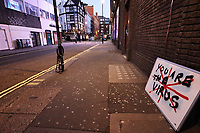 London's Soho in lockdown during the Coronavirus pandemic