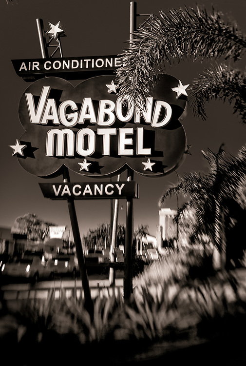 The Vagabond Motel's starry, Space Age sign is an iconic landmark on Miami's main street, Biscayne Boulevard, also known as US-1