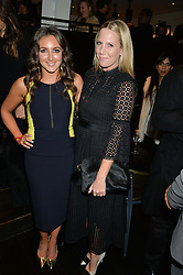 Left to right, NATASHA CORRETT and ALICE NAYLOR-LEYLAND at a party to celebrate the publication of Honestly Healthy Cleanse by Natasha Corrett held at Tredwell's Restaurant, 4a Upper St.Martin's Lane, London on 14th January 2015.