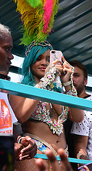 Rihanna spotted at Barbados Kadooment day Parade. 07 Aug 2017 Pictured: Rihanna. Photo credit: CharlesPitt/246paps/MEGA TheMegaAgency.com +1 888 505 6342