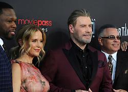 Rapper 50 Cent, actors Kelly Preston, John Travolta and John A. Gotti attending the New York Premiere of 'Gotti' at SVA Theater on June 14, 2018 in New York City, NY, USA. Photo by Dennis Van Tine/ABACAPRESS.COM