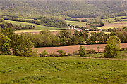 Northcentral Pennsylvania, Farm, cultivated land and mountain, Bradford County