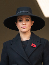 Meghan, Duchess of Sussex attends the annual Remembrance  Sunday Memorial at The Cenotaph in London on November 10, 2019.