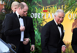 The Duke of Cambridge and The Prince of Wales attending the global premiere of Netflix's Our Planet, held at the Natural History Museum, London