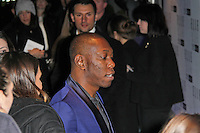 LONDON - FEBRUARY 13: Dizzee Rascal attends the public relations disaster that was the outside arrivals at the ELLE Style Awards at the Savoy Hotel, London, UK on February 13, 2012. (Photo by Richard Goldschmidt)