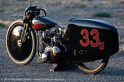 Bobby Green and invited builder Justin Walls' Petrali Tribute 1948 Harley UL Harley-Davidson custom at the Born Free chopper show. Silverado, CA. USA. Sunday June 24, 2018. Photography ©2018 Michael Lichter.