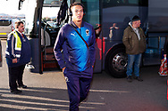 Wimbledon defender Toby Sibbick (20) arrives during the EFL Sky Bet League 1 match between Doncaster Rovers and AFC Wimbledon at the Keepmoat Stadium, Doncaster, England on 17 November 2018.